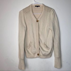 Gap Heavy Cotton ChunkyKnit Hidden Button Cardigan